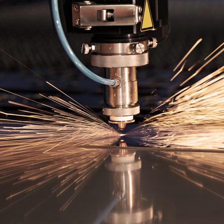 Manufacturing CNC laser machine cutting metal