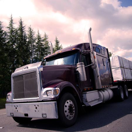Freight truck bought using trucking business loans