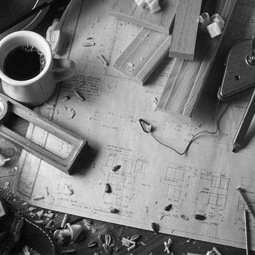 Construction company design plans and tools