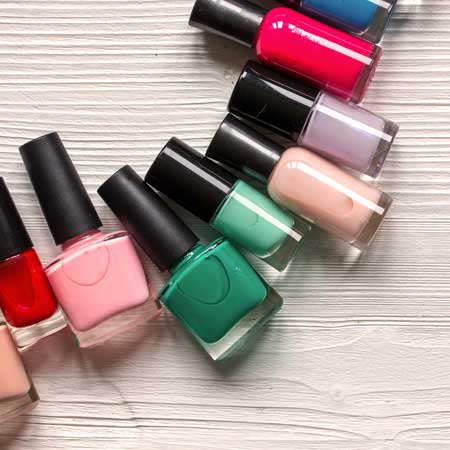 assorted colors of manicure nail polish